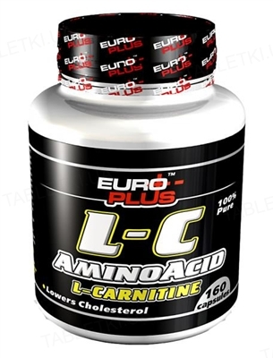Жиросжигатель Euro-Plus L-С Amino Acid L-Сarnitine 160 капсул