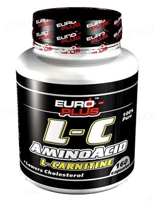 Жироспалювач Euro-Plus L-С Amino Acid L-Сarnitine, 160 капсул