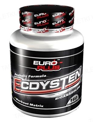 Капсули Euro Plus Ecdysten (Bioanabolon) для підвищення тестостерону, 160 капсул