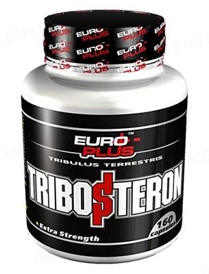 Капсулы Euro Plus Tribosteron для повышения тестостерона для спортсменов, 160 капсул