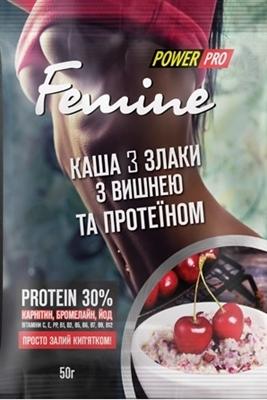 Каша Power Pro Femine 3 злака с вишней, 30% протеина, 50 г