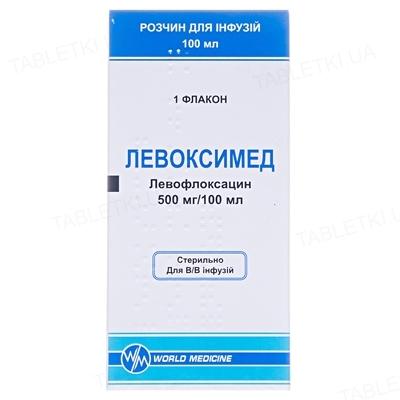Левоксимед раствор д/инф. 500 мг/100 мл по 100 мл во флак.