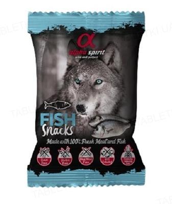 Лакомства полувлажные для собак Alpha Spirit DOG Snacks Fish с рыбой, кубики, 50 г