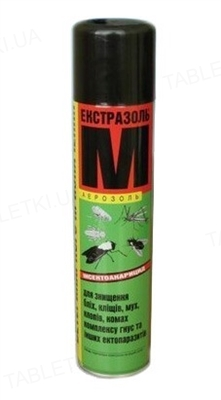 Екстразоль М аерозоль для боротьби з мухами, оводами, блохами і кліщами, 300 мл