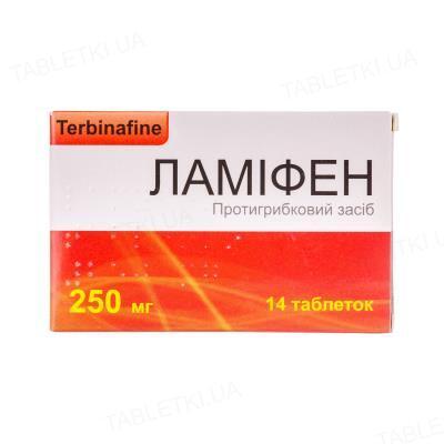 Ламифен таблетки по 250 мг №14 (7х2)