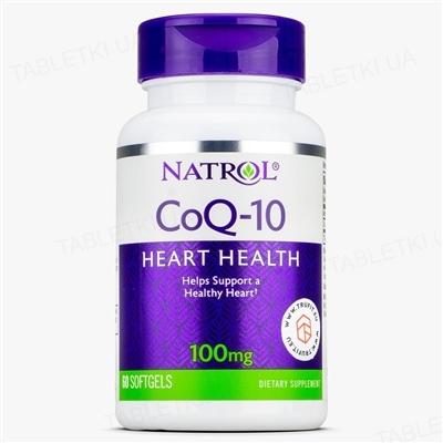 Коэнзим Natrol CoQ-10 100 mg, 60 капсул