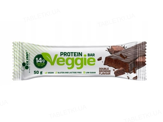 Батончик Olimp Veggie Protein Bar двойной шоколад, 50 г