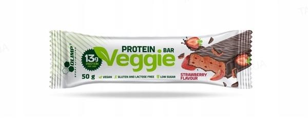 Батончик Olimp Veggie Protein Bar клубника, 50 г
