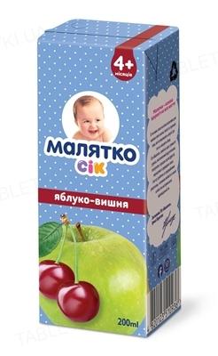 Сок Малятко Яблочно-вишневый, 200 г