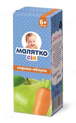 Сок Малятко Морковно-яблочный, 200 мл