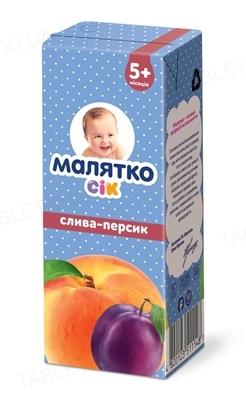 Сок Малятко Сливово-персиковый, 200 г