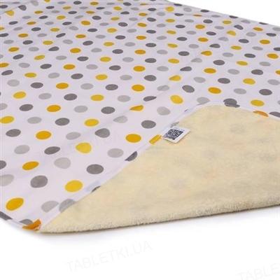 Пеленка двусторонняя непромокаемая Эко Пупс Eco Cotton, 65 х 90 см, горошек