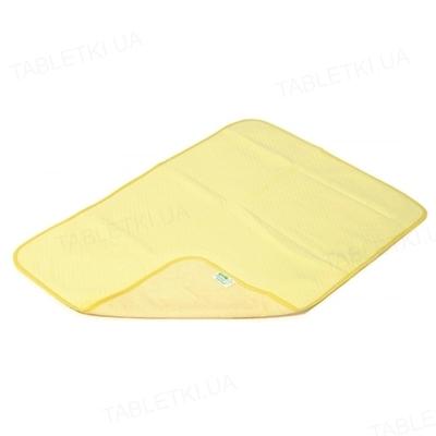 Пеленка двусторонняя непромокающая Эко Пупс Jersey Classic, 65 х 90 см, желтая