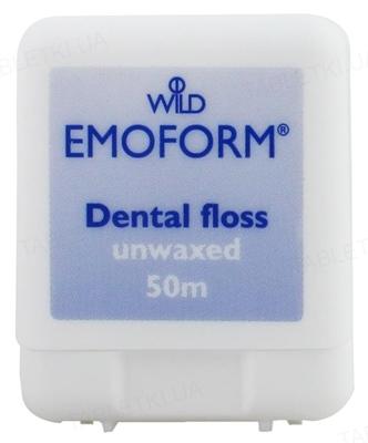 Зубная нить Dr. Wild Emoform невощеная, тонкая, 50 м
