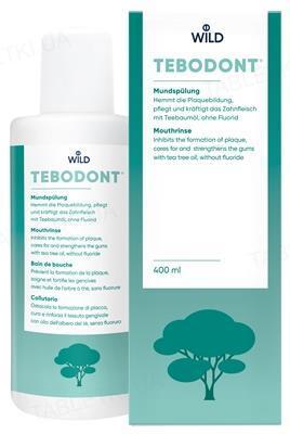 Ополаскиватель для полости рта Tebodont с маслом чайного дерева без фторида, 400 мл