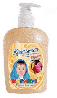 Крем-мыло Карапуз Персик-банан, 400 мл