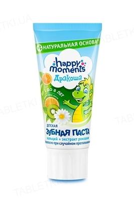 Зубная паста Happy Moments Дракоша со вкусом фруктовой мяты, гелевая, 60 мл