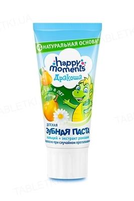 Зубная паста Happy Moments Дракоша со вкусом груши, гелевая, 60 мл