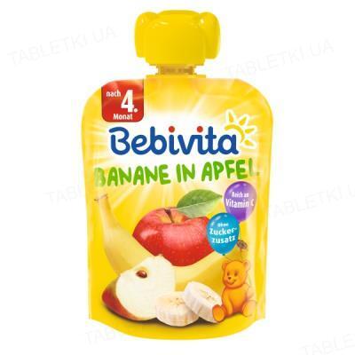 Фруктовое пюре Bebivita Банан-Яблоко, 90 г