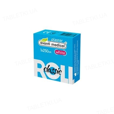 Пластырь медицинский Avanti medical Classic на тканевой основе 1 см х 250 см, белый, катушка, 1 штука