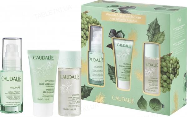 Набор Caudalie Vinopure Anti-Blemish Mission (Сыворотка 30 мл + Желе для очистки кожи 30 мл + Очищающий тоник 50 мл)