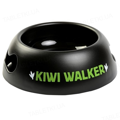 Чаша для собак Kiwi Walker Black Bowl, 750 ml, размер M, зеленая