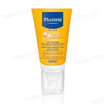 Лосьйон Mustela, сонцезахисний, SPF + 50, 40 мл
