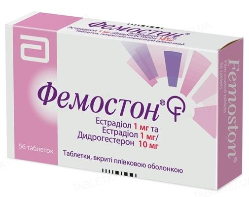 Фемостон комби-упак.: таб., п/плен. обол. 1 мг/10 мг №56 (28х2)