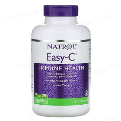 Витамины Natrol Easy-C 500 мг, 240 веганских капсул