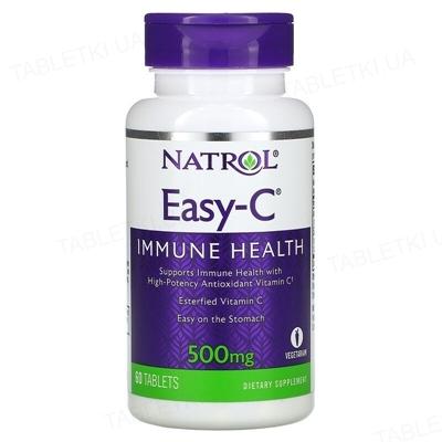 Витамины Natrol Easy-C 500 мг, 60 таблеток