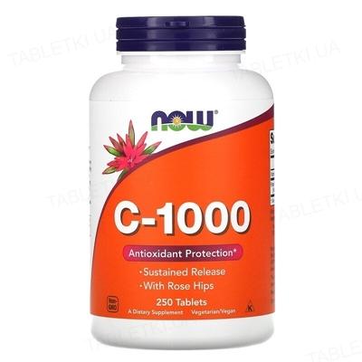 Витамины NOW C-1000 таблетки №250