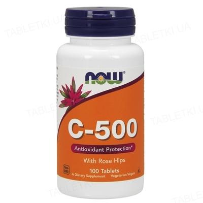 Витамины NOW C-500 RH таблетки №100