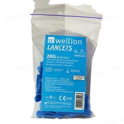 Ланцеты Wellion 28G, 50 штук