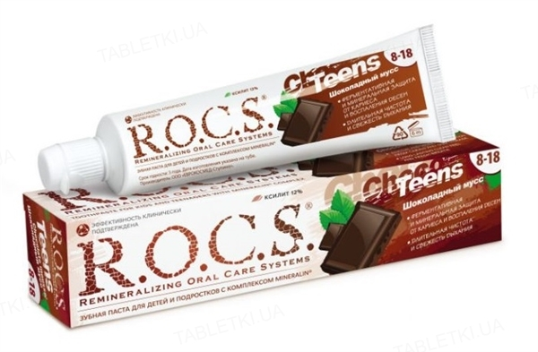 Зубная паста R.O.C.S. Teens Шоколадный мусс, 74 г