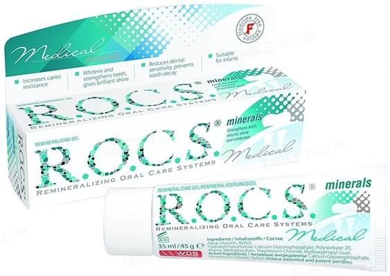 Гель для укрепления зубов R.O.C.S. Medical Minerals, 45 г