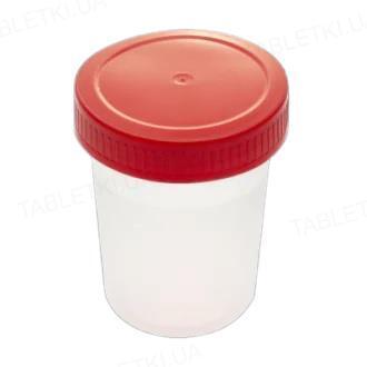 Контейнер для забора биологического материала Литопласт стерильный, 125 мл