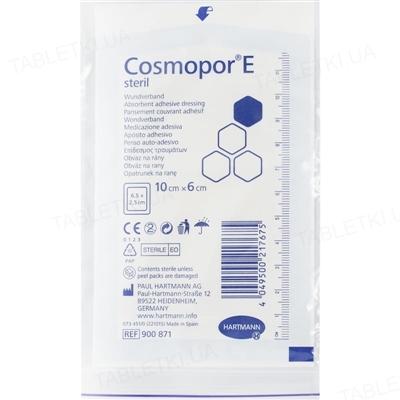 Повязка пластырная Cosmopor E steril для закрытия ран 10 см х 6 см стерильная, 1 штука