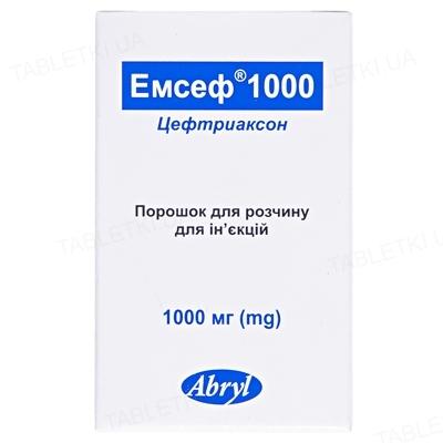 Емсеф 1000 порошок для р-ну д/ін. по 1000 мг №1 у флак.