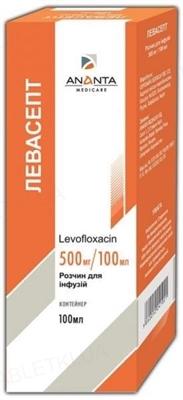 Левасепт раствор д/инф. 500 мг/100 мл по 100 мл в конт.
