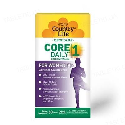 Витаминно-минеральный комплекс Country Life Core Daily 1, для женщин после 50 лет, 60 таблеток