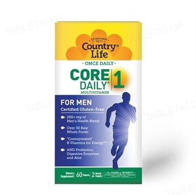 Витаминно-минеральный комплекс Country Life Core Daily 1, для мужчин, 60 таблеток