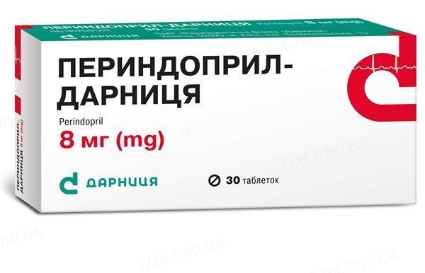 Периндоприл-Дарница таблетки по 8 мг №30 (10х3)