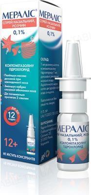 Мералис спрей наз., р-р 0.1 % по 10 мл во флак. с доз. устр.