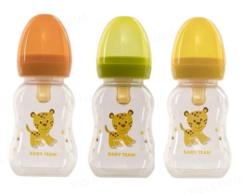 Бутылочка для кормления Baby Team 1300 с латексной соской от 0 месяцев, 125 мл