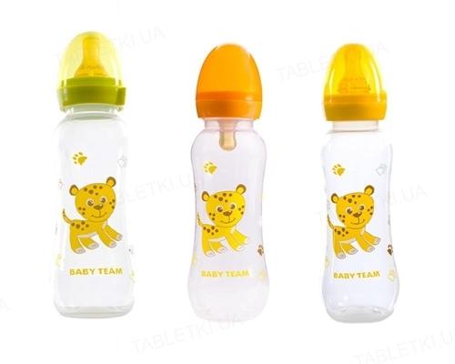 Бутылочка для кормления Baby Team 1310 с латексной соской от 0 месяцев, 250 мл