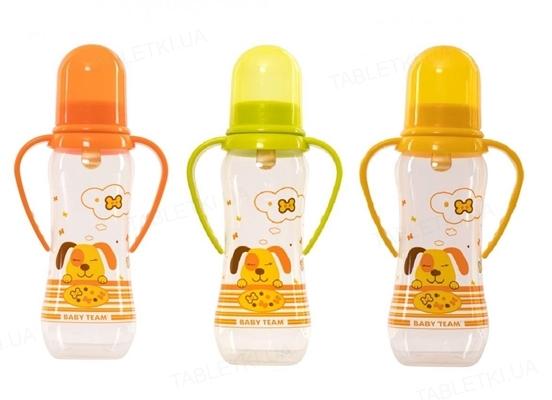 Бутылочка для кормления Baby Team 1311 с латексной соской, 250 мл