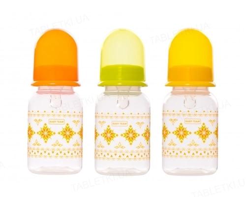 Бутылочка для кормления Baby Team 1400 с силиконовой соской от 0 месяцев, 125 мл