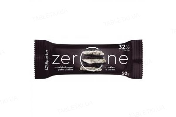 Батончик Sporter Zero One Cookies Cream, 50 г