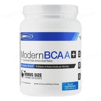 Аминокислота USP labs Modern BCAA+ голубая малина, 1,34 кг