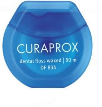 Зубная нить Curaprox вощеная с ароматом мяты 50 м